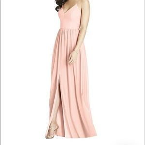"Dessy 3019 bridesmaids dress in ""toasted sugar"""